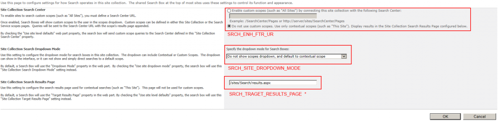 Search Settings in 2010 with Propertynames of properties stored in propertybag