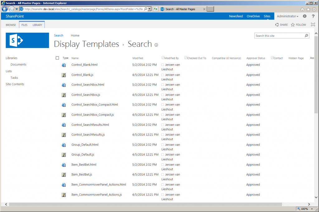 Search Display Templates